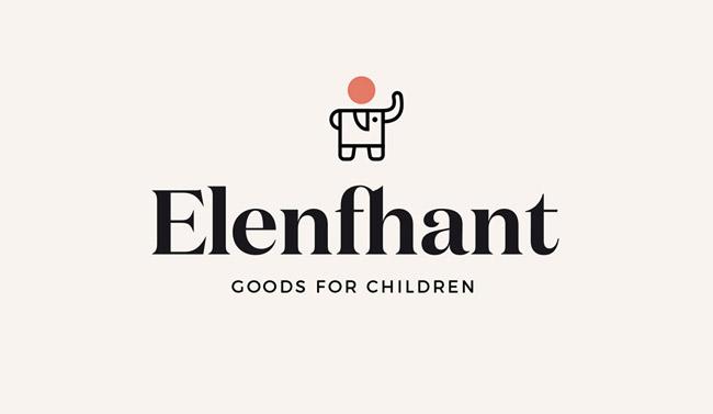 在线儿童精品店Elenfhant形象VI设计
