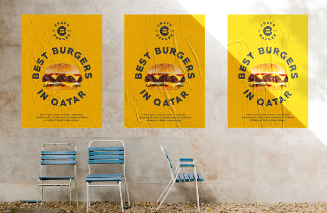 汉堡快餐Crave Burger品牌vi