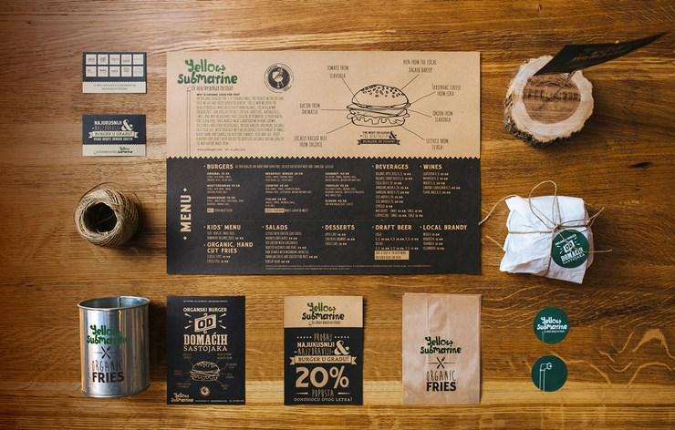 品牌汉堡店企业视觉形象VI设计