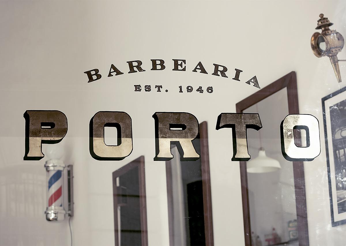 理发店Porto品牌形象vi设计