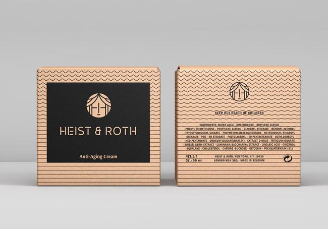 素雅的Heist & Roth女性护肤美容品牌形象VI设计