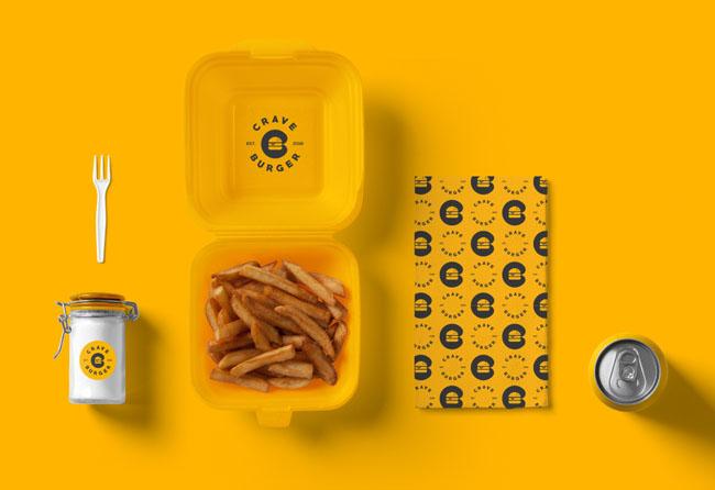 Crave Burger汉堡快餐品牌VI形象设计