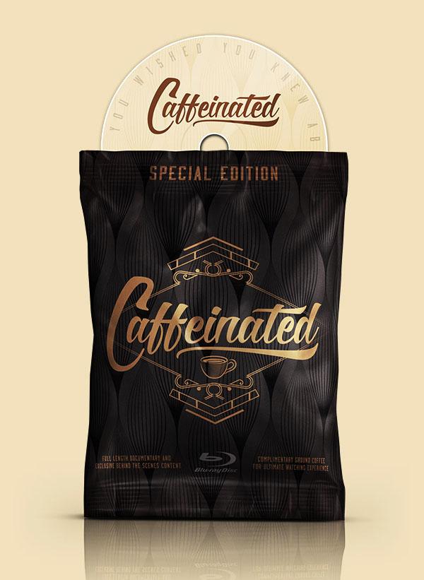 国外传统Caffeinated咖啡店品牌VI形象设计