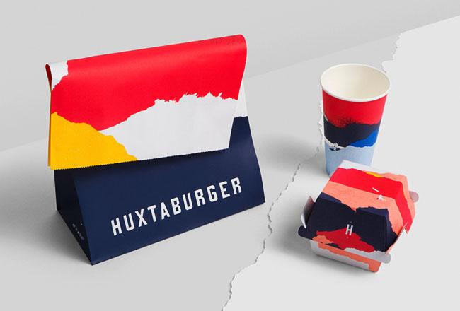 国外Huxtaburger快餐品牌形象vi设计
