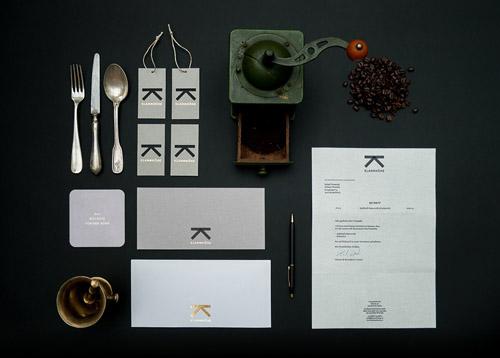 Klammhohe Cafe-Restaurant咖啡馆品牌vi形象设计