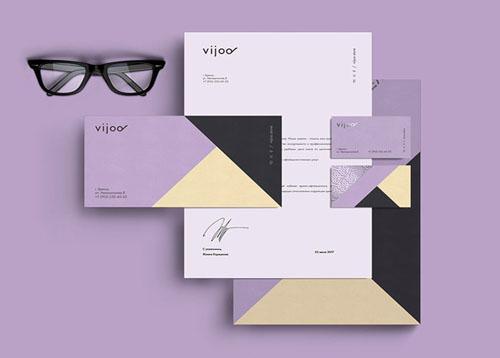 眼镜品牌Vijoo形象VI设计