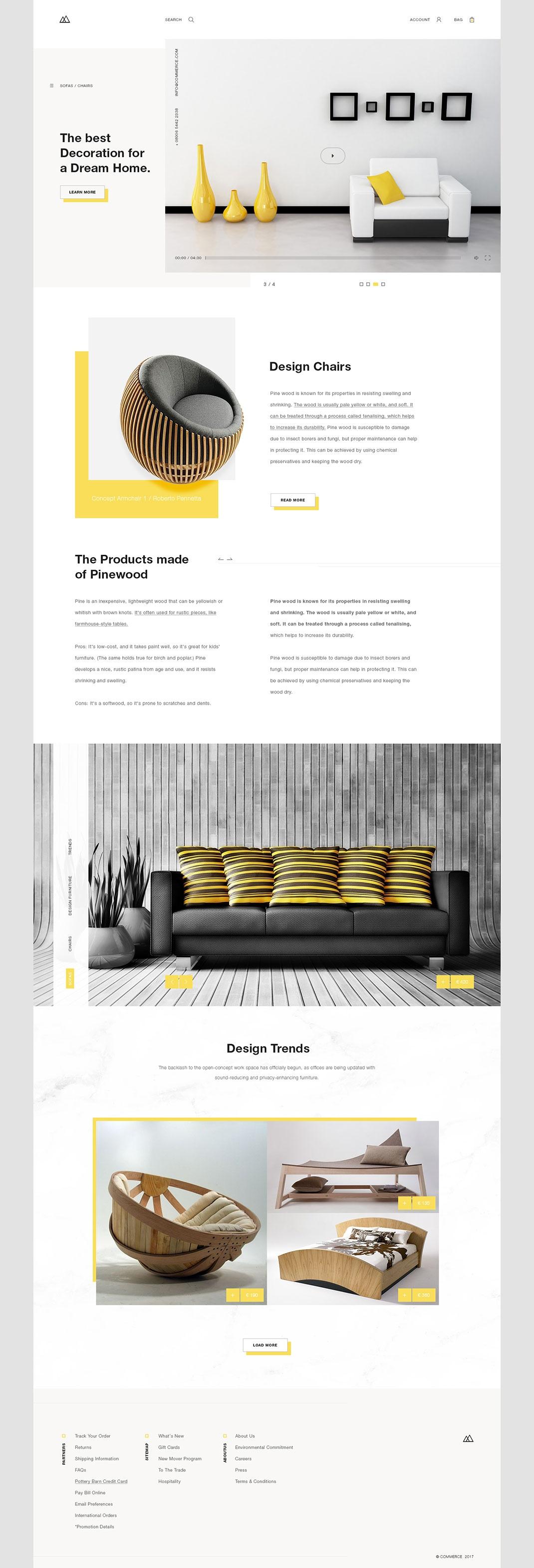 国外一家家具网站设计和手机app设计欣赏