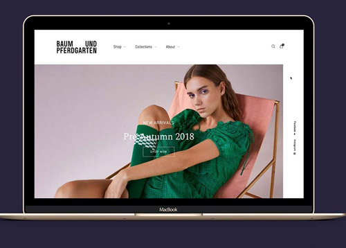 BUP高端时尚品牌网站设计和网页设计欣赏